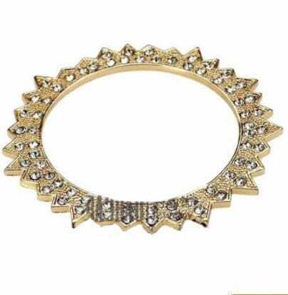 Gold-tone Spike Bangle Bracelet
