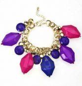 Colored Irregular Crystal Charm Bracelet