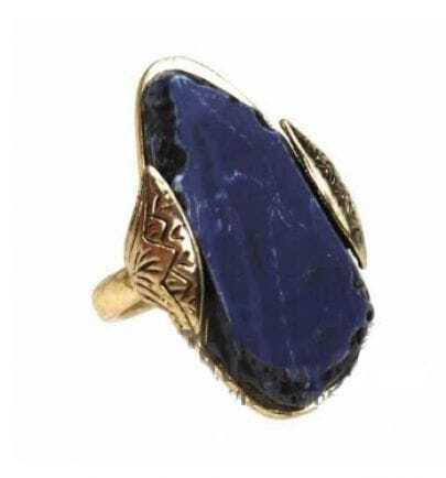Teardrop Sapphire Gold Ring