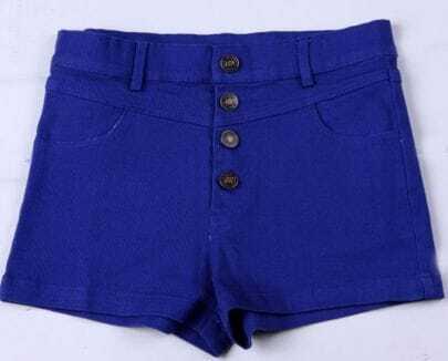 Royal Colored High Waist Shorts