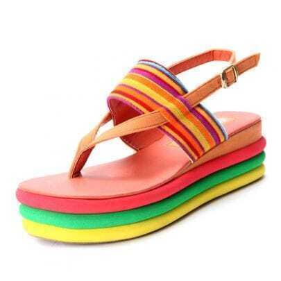 Orange Suede Multi Sole Flat 55mm Sandals