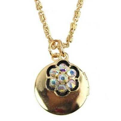 Flower Embellished Necklace With Open Lockets