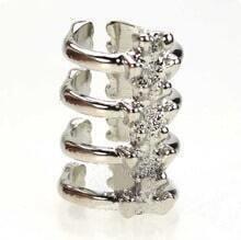 Silver Alloy Arrow Skeleton Ring