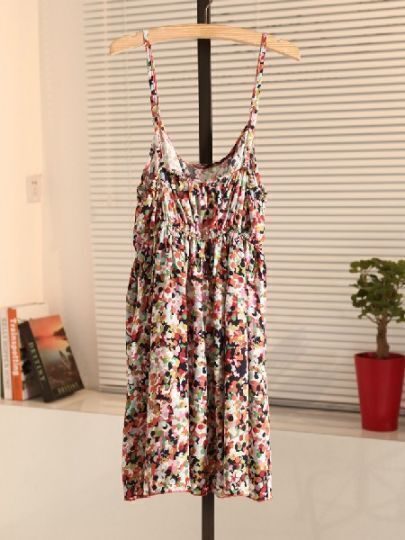 Multi Spaghetti Strap Floral Sexy Dress