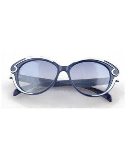 Navy Vintage Plastic Frame Wayfarer Sunglasses