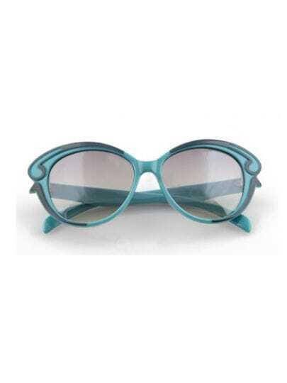Green Vintage Plastic Frame Wayfarer Sunglasses