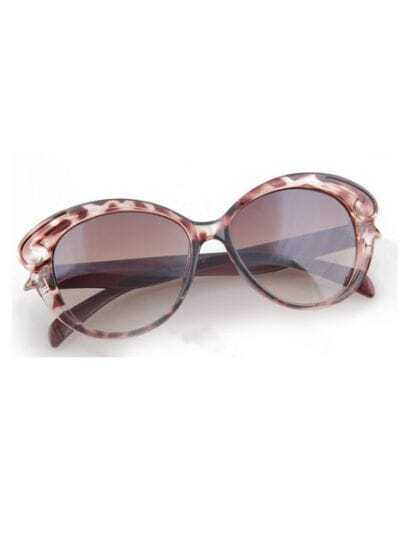 Leopard Vintage Plastic Frame Wayfarer Sunglasses
