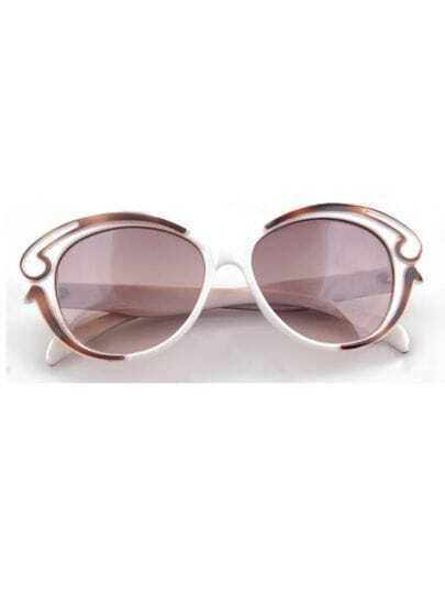 White Vintage Plastic Frame Wayfarer Sunglasses