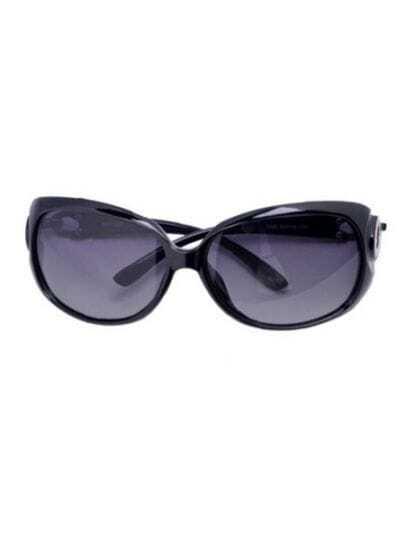 Black Fashion Plastic Frame Wayfarer Sunglasses