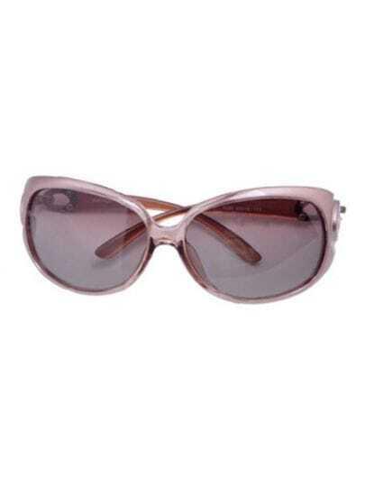Champagne Fashion Plastic Frame Wayfarer Sunglasses