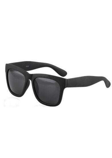 Matte Black Plastic Retro Wayfarer Sunglasses