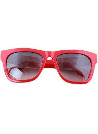 Pink Plastic Retro Wayfarer Sunglasses