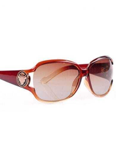 Tan Plastic Fashion Cat Eye Sunglasses