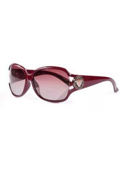 Burgundy Plastic Fashion Cat Eye Sunglasses