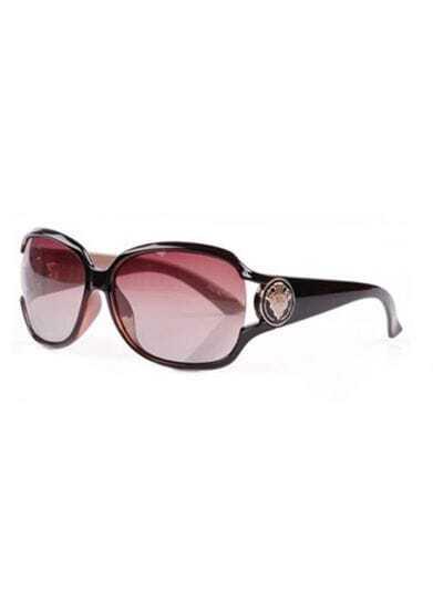 Coffee Plastic Fashion Cat Eye Sunglasses