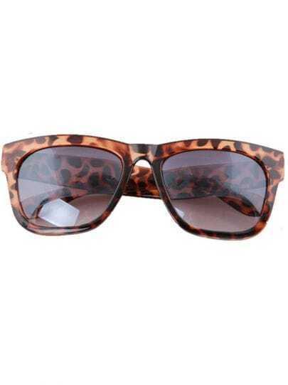 Zebra Print Plastic Retro Wayfarer Sunglasses