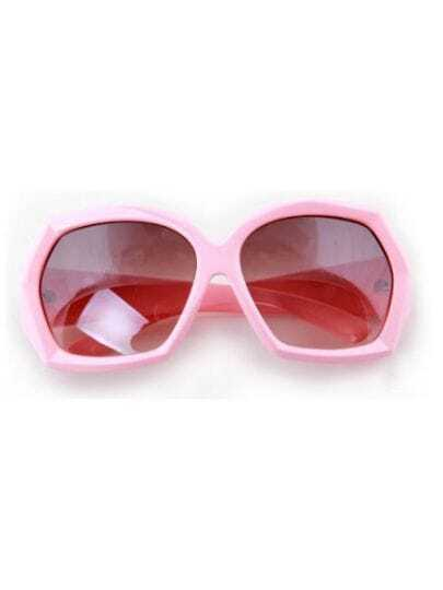 Pink Fashion Cat Eye Plastic Frame Sunglasses