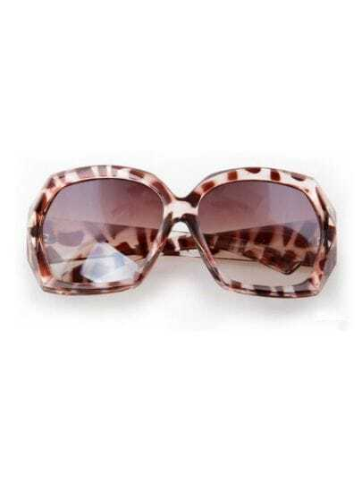 Leopard Fashion Cat Eye Plastic Frame Sunglasses