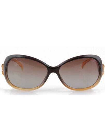 Dark Brown Fashion PC Wayfarer Plastic Frame Sunglasses