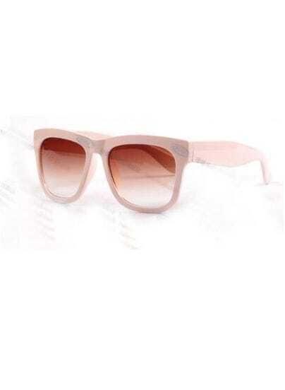 Pink Plastic Fashion Wayfarer Sunglasses