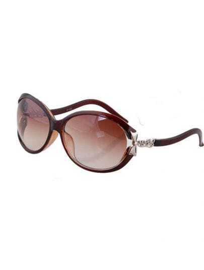 Hu Platinum Plastic Fashion Butterfly Sunglasses