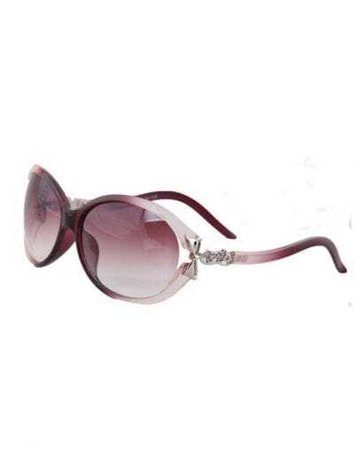 Pink and White Plastic Fashion Butterfly Sunglasses