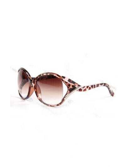Leopard Plastic Fashion Round Sunglasses