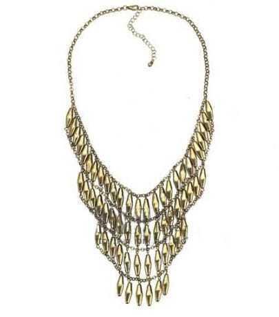 Vintage Chic Rivet Pendant Necklace