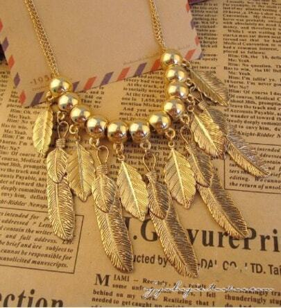 Exaggerated Personality Summer Leaves Necklace