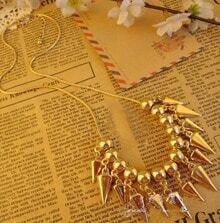 Creative Gold Bullet Necklace