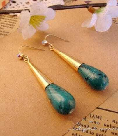 Blue Small Gourd Earrings