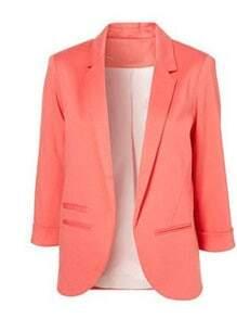 Pink Boyfriend Ponte Rolled Sleeves Blazer