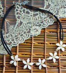 White Camellia String Necklace