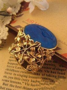 Blue Gemstone Vintage Gold Rings