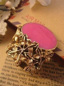 Pink Gemstone Vintage Gold Rings