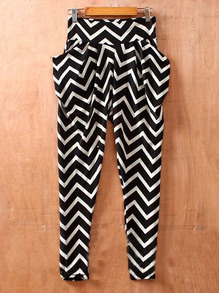 Water Ripples Street Mid Waist Elasic Skinny Pants