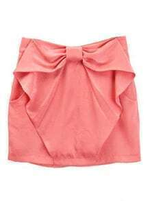 Pink Bow Ruffles Polyester Skirts