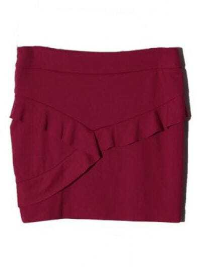 Rose Red Ruffles Cotton Skirts