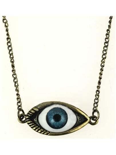 Bronze Look Evil Eye Necklace
