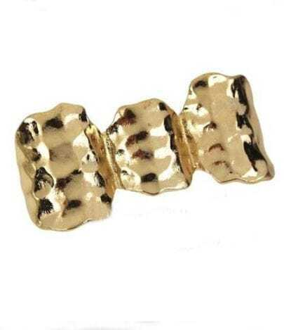 Gold Three Finger Bump Rings