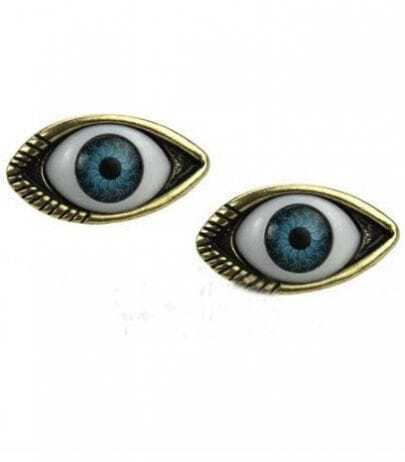 Bronze Look Evil Eye Stud Earring