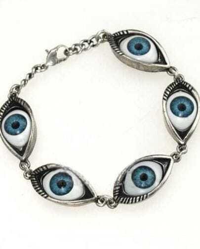 Silver Look Evil Eye Bracelet
