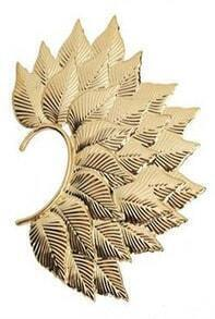 Gold Leaves Overlapped Style Ear Cuff