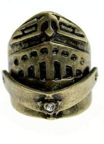 Bronze Helmets Style Vintage Ring