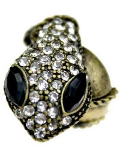 Bronze Snack Style Diamond Embellished Ring