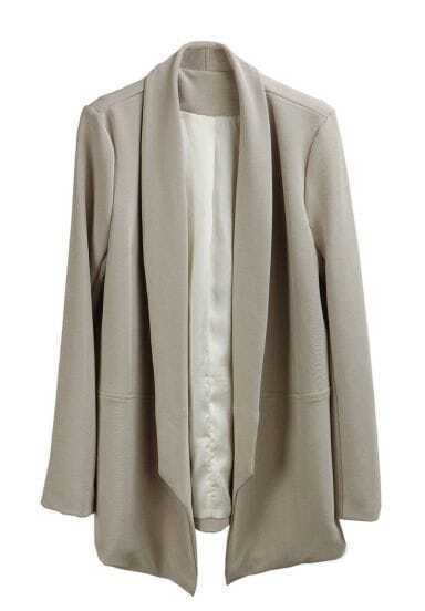 Nude Shawl Collar Long Sleeve Blazer
