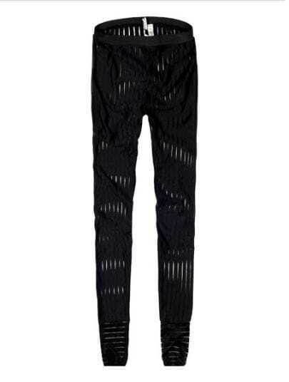 Black Fashion Broken Stripe Sheath Pant