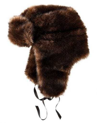Coffee Faux Fur Trapper Hat