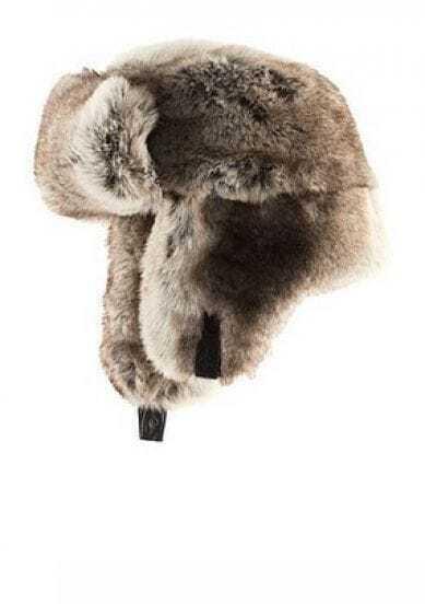 Light Brown Faux Fur Trapper Hat