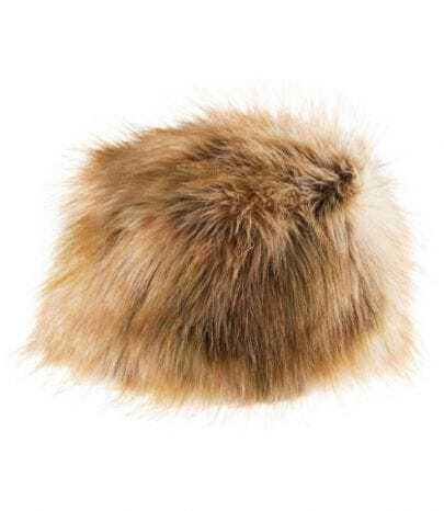 Beige Faux Fur Cossack Hat